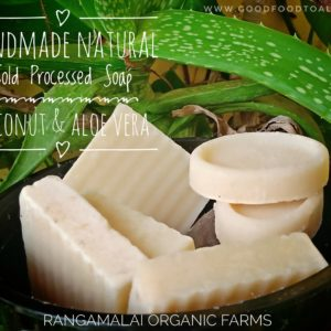 Handmade Cold Processed Soap –  Aloe Vera (Unscented & Natural)