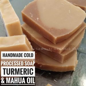 Handmade Cold Processed Natural Soap – Turmeric & Mahua