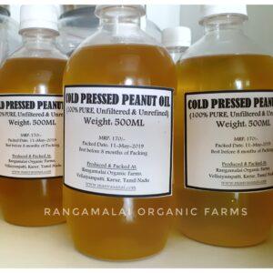100% Pure Cold Pressed Peanut Oil, 500ml